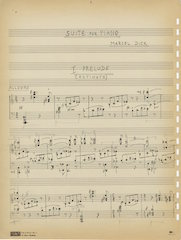 Suite for Piano, page one