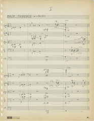 Symphony for strings, page one
