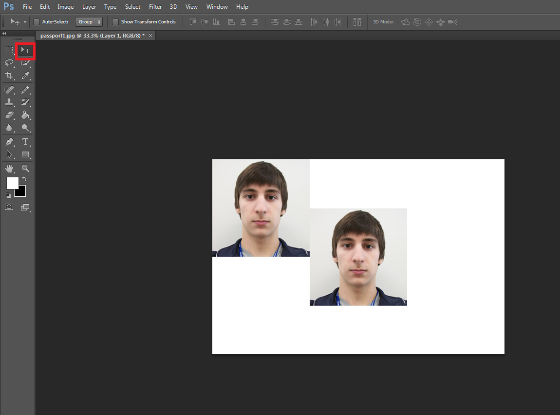 Photoshop, Passport Photo Creation - Basic Editing: Images