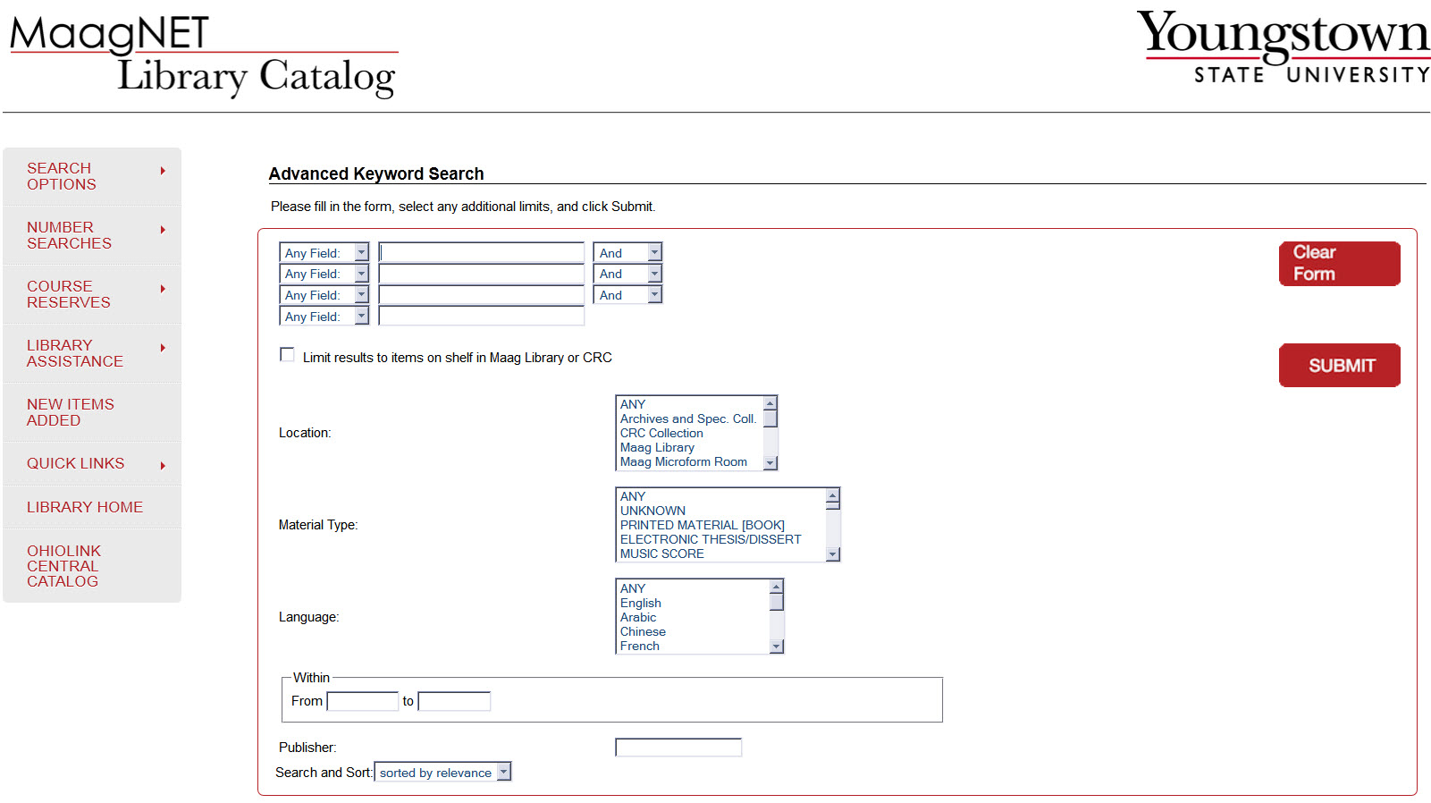 MaagNet Advanced Keyword Search