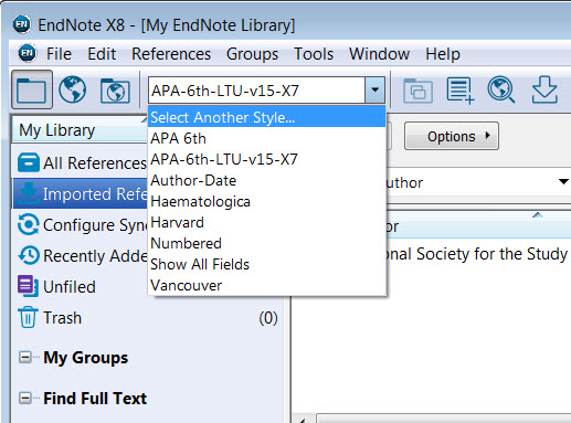 styles endnote x8 libguides at la trobe university