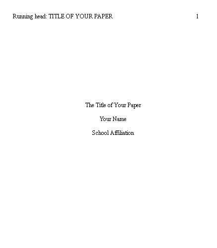 how to head your paper in college