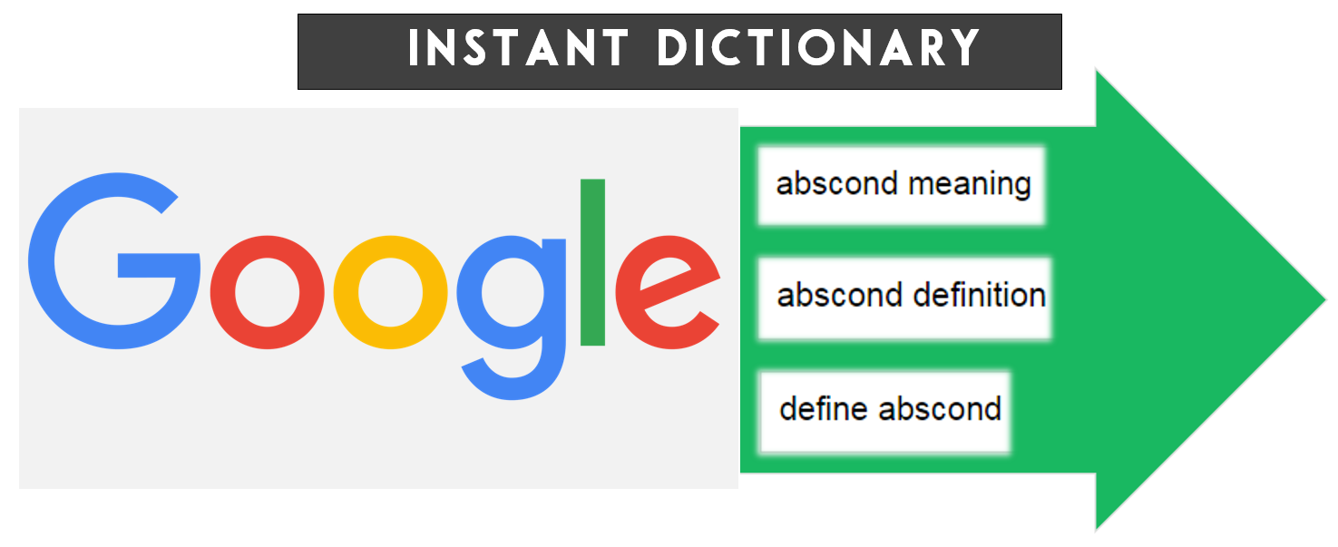 google = instant dictionary