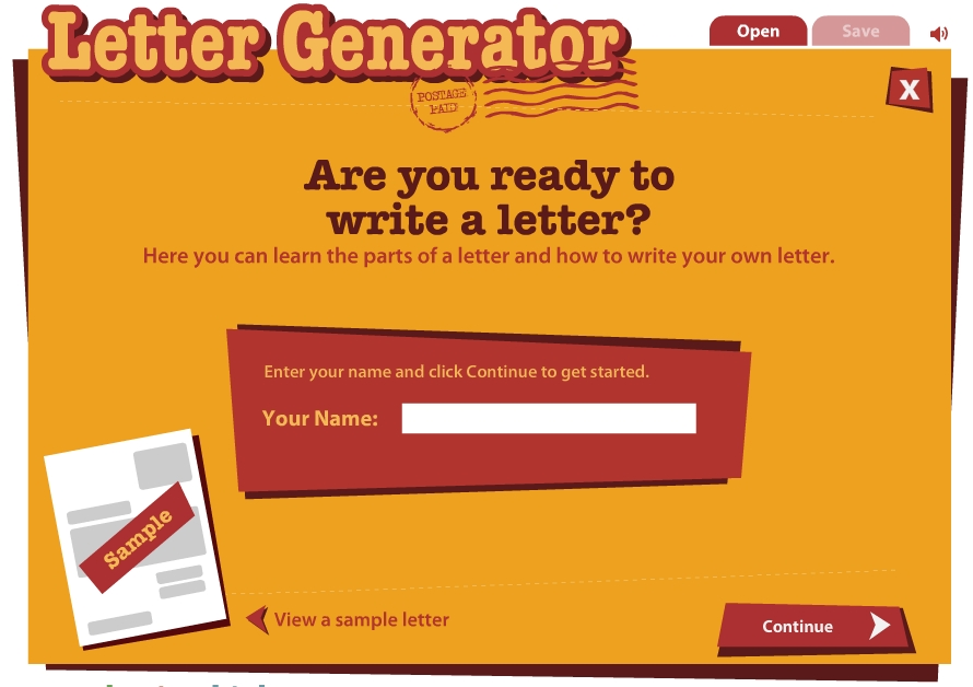 Read Write Think Letter Generator