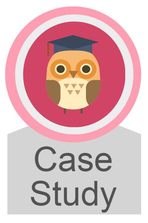 Case study icon, links to case study