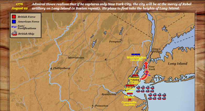 Map Of New York 1776.Maps Lis 511 2015 2 Fall The American Revolution In New York