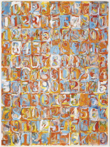 "Jasper Johns ""Numbers in Color"" Painting"