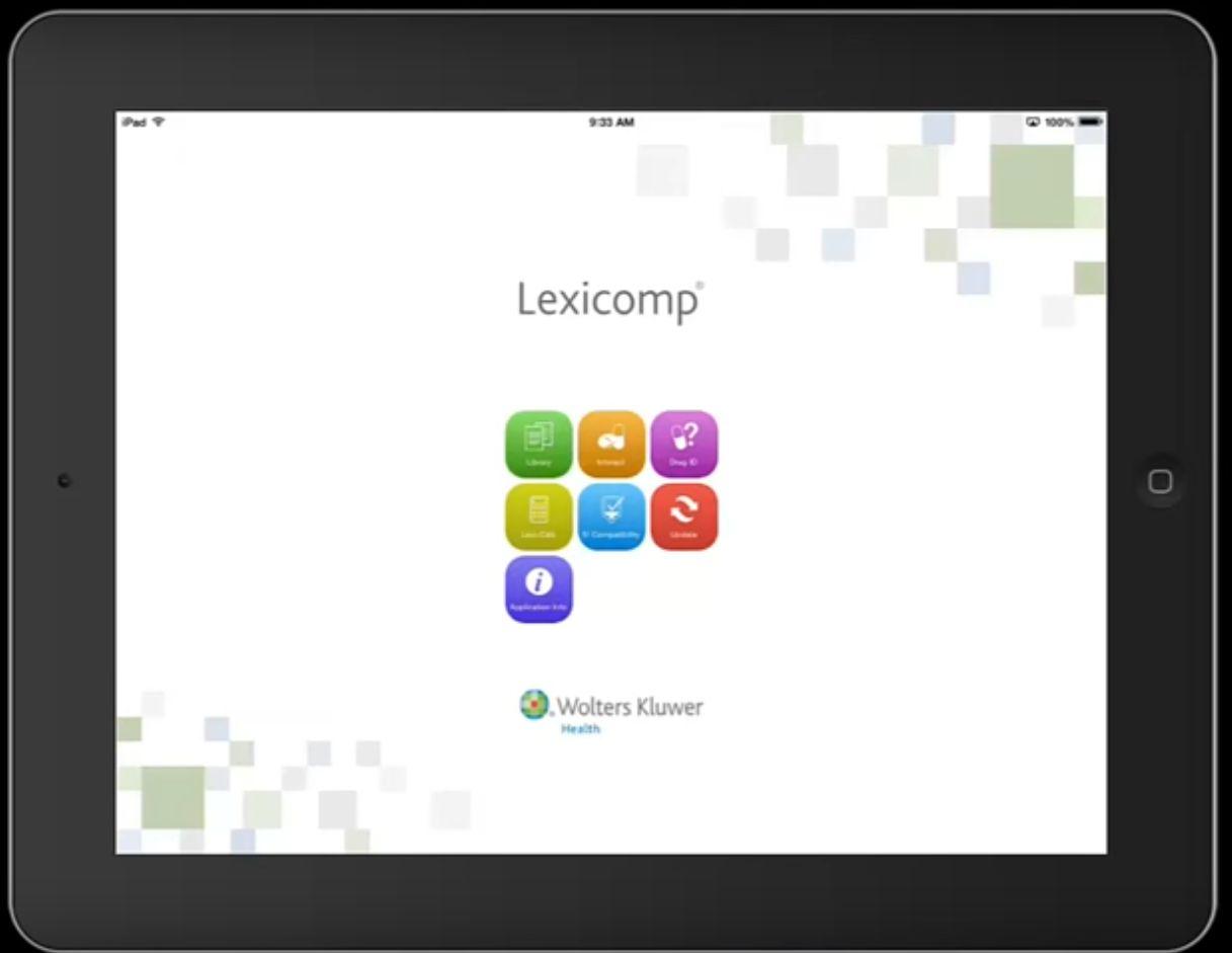screenshot Lexicomp app
