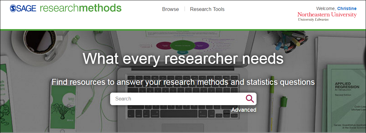 SAGE research methods button