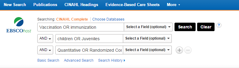 search history pubmed