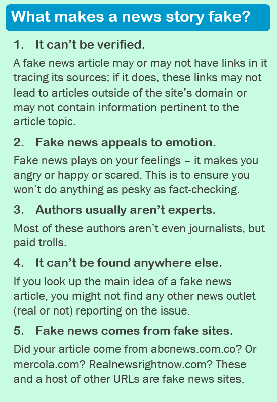 What makes a news story fake