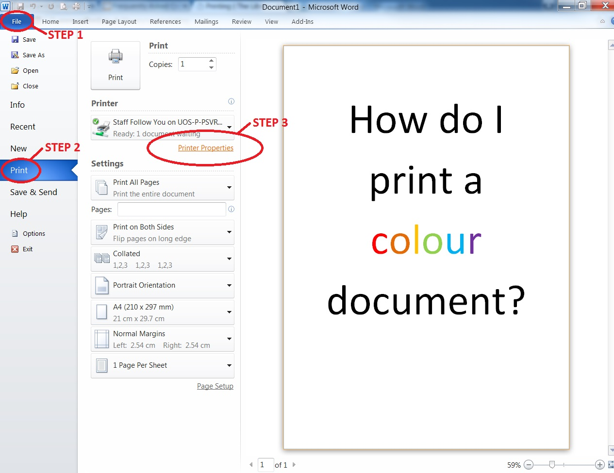 Printing | The Library | University of Salford, Manchester