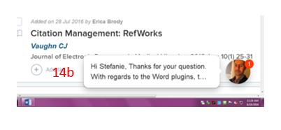 Citation Management: RefWorks