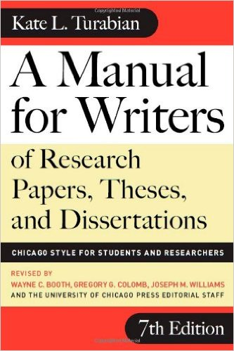 Kate l. Turabian a manual for writers 7th edition 2007 | in.