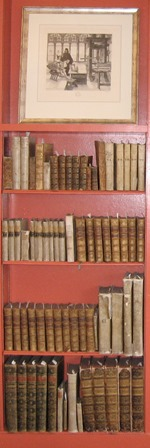 Shelf of antique books