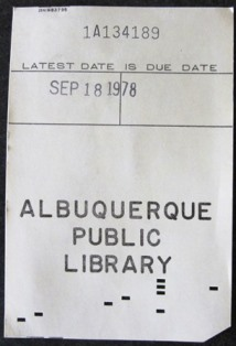 Date due card 1978