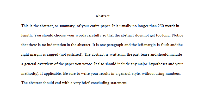 Narrative Essay Thesis Statement Examples Example Of An Abstract High School Years Essay also Science Essay Examples Abstracts And Appendices  Apa Guide  Rasguides At Rasmussen College Interview Essay Paper