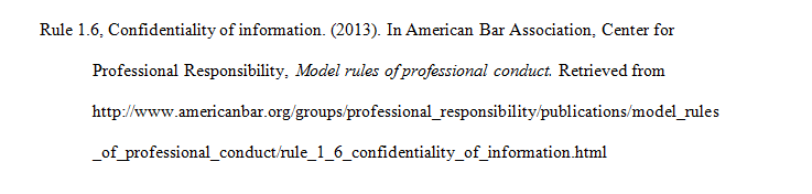 q how do i cite the aba model rules of professional conduct in the