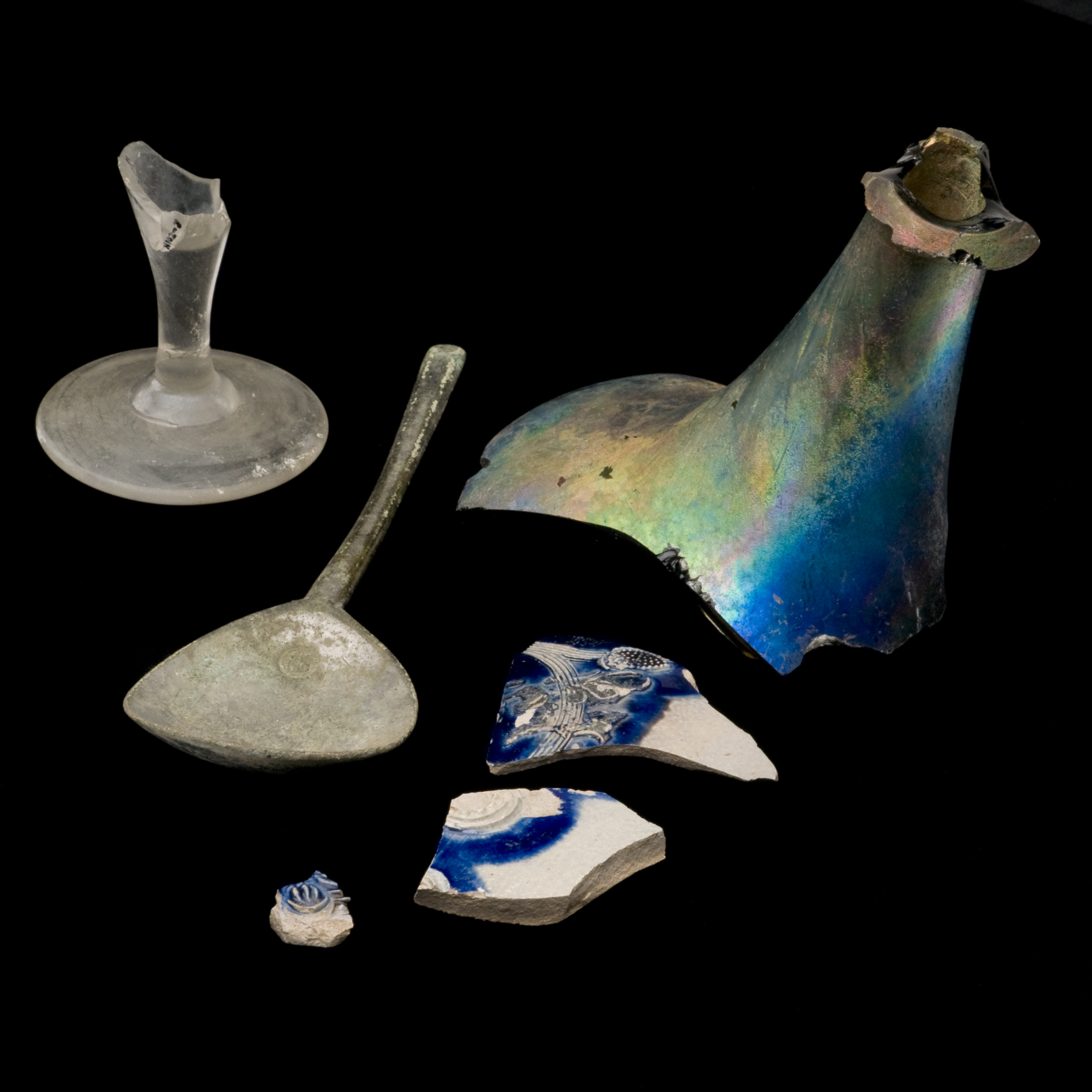 Selection of artifacts excavated from Harvard Yard