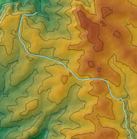 Topography of an Assyrian canal in northern Iraq, ca. 700 BC