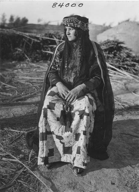 Portrait of a Marsh Arab woman