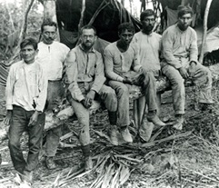 Photograph of A.M. Tozzer. Camp and Crew