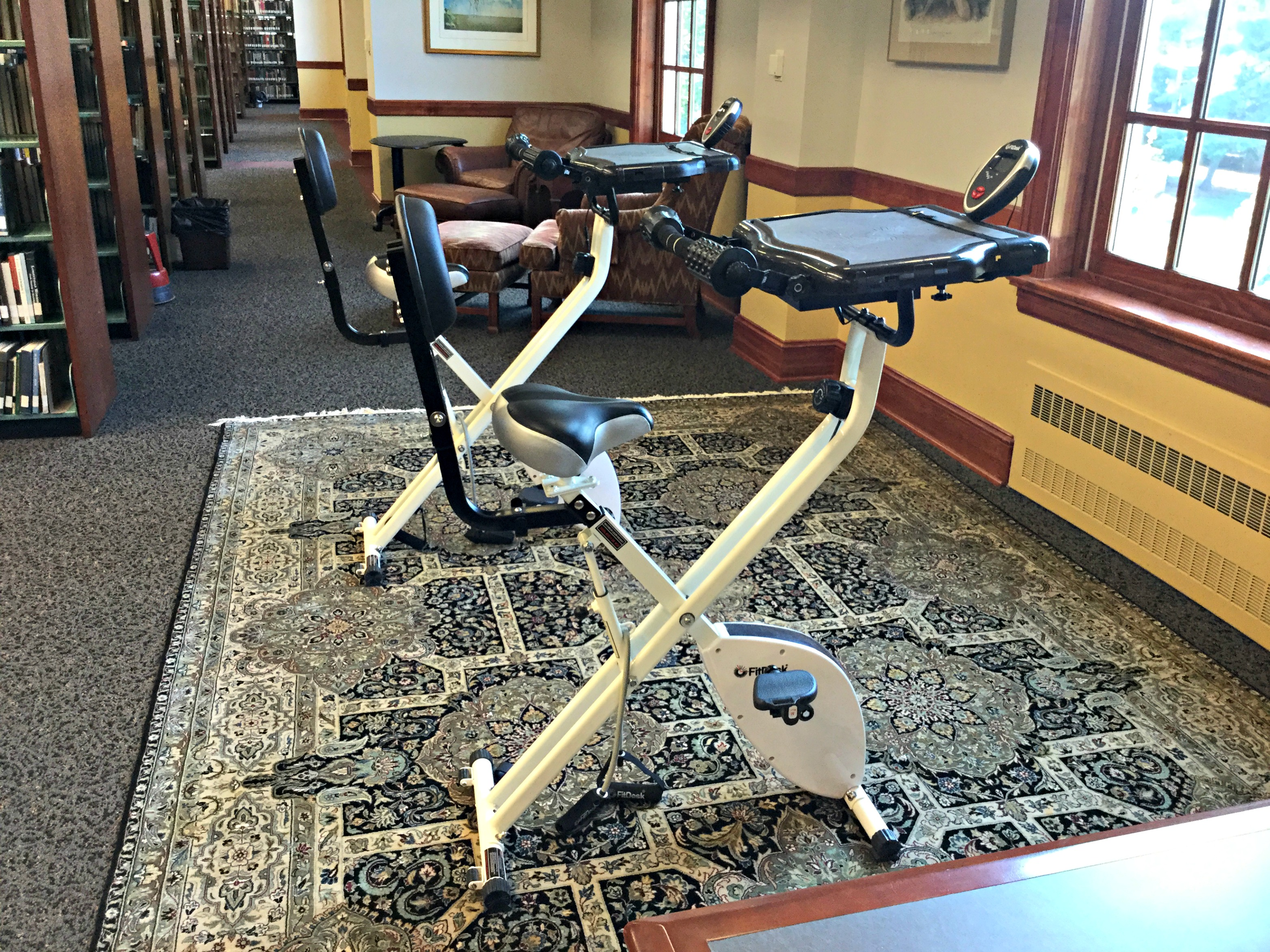 Fit desks in the Library