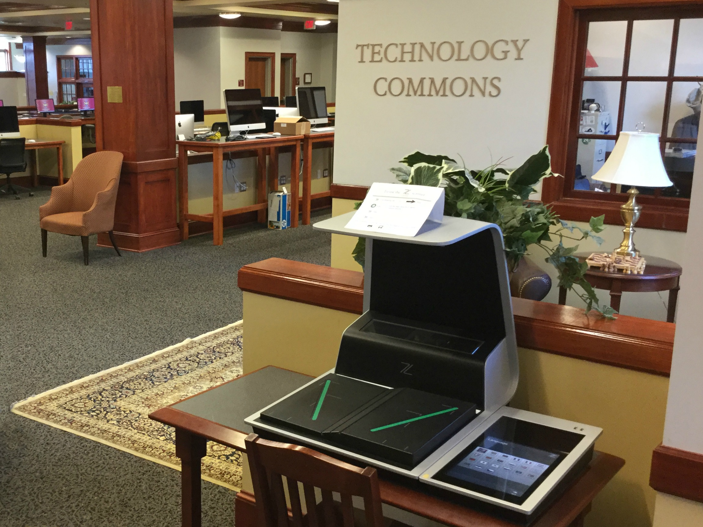 The Technology Commons provides support on the second floor.
