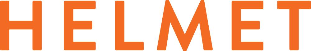 Helmet-kirjatojen logo ja linkki Helmet-sivustolle