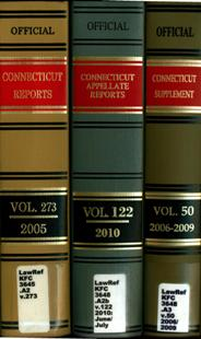 Official Connecticut Reporter Volumes