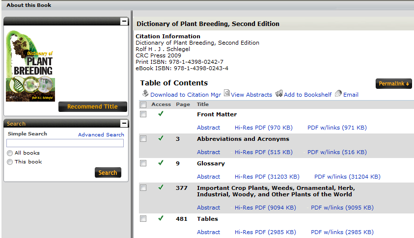 Image of a CRC Netbase book