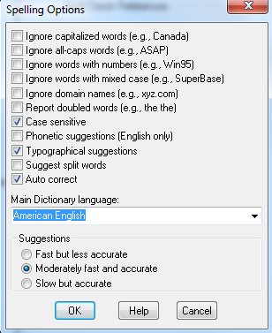 Image of spell check options
