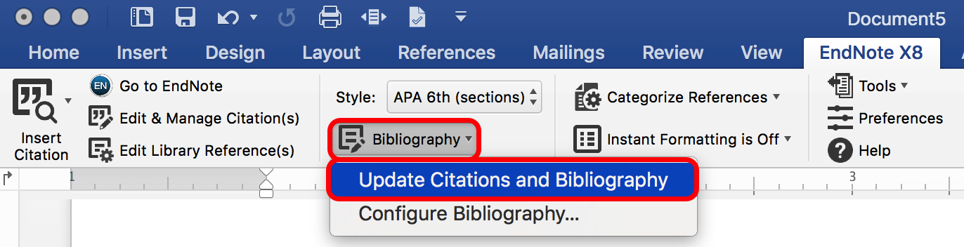 Update Citations on Macs to formatted citations