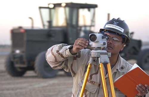 Surveying is to examine and record the area and features of (an area of land) so as to construct a map, plan, or description.