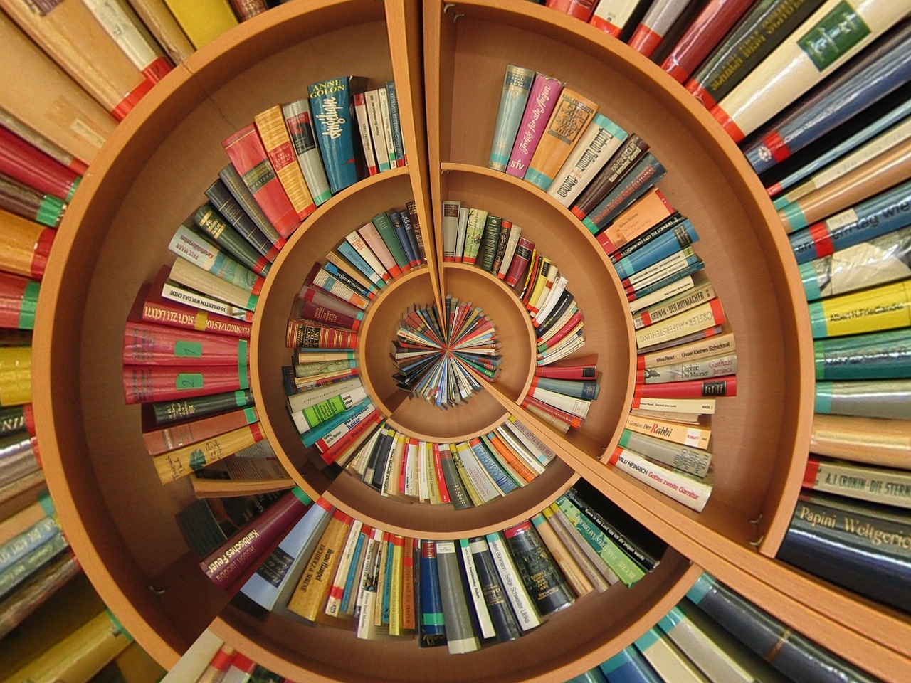 Decorative - Spiral of Books