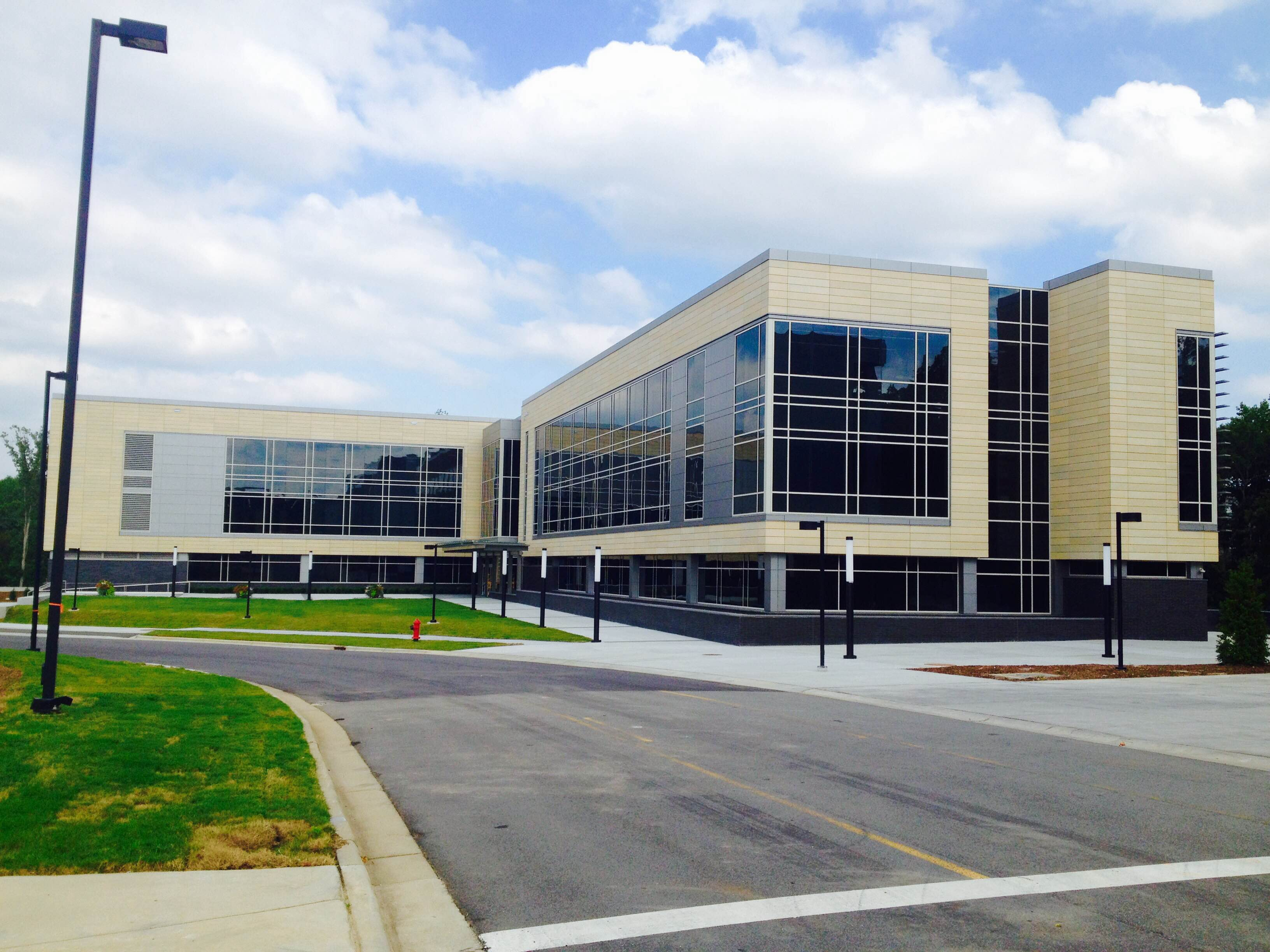 Exterior of Building F on North Campus.