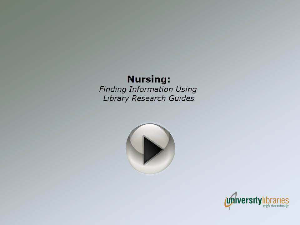 Video: Finding Nursing Information Using Library Research Guides