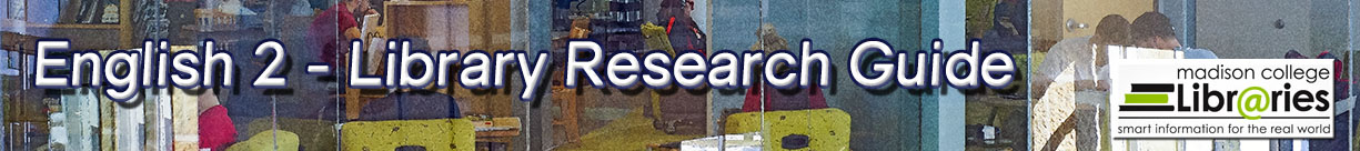 English 2 Library Research Guide banner