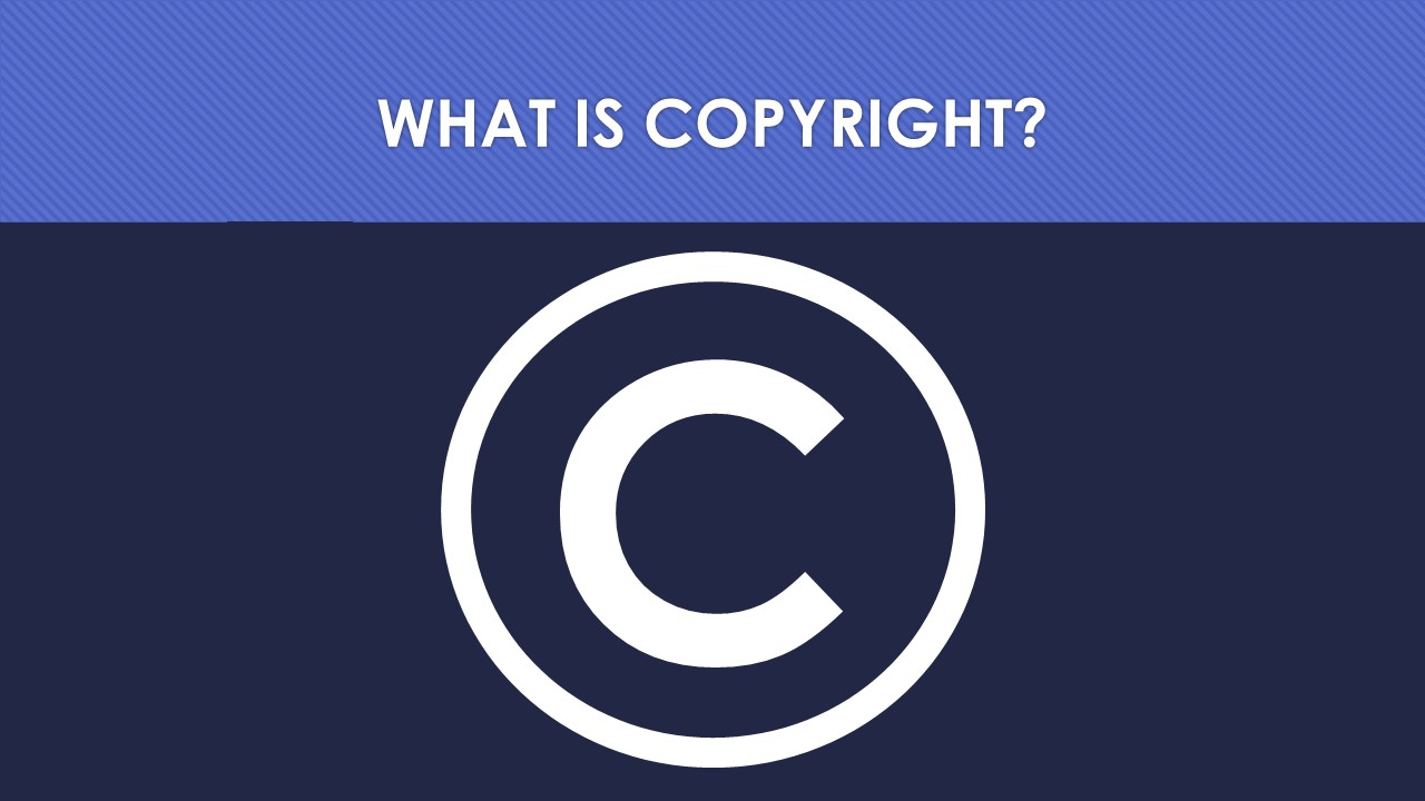 Slide 1: what is copyright?
