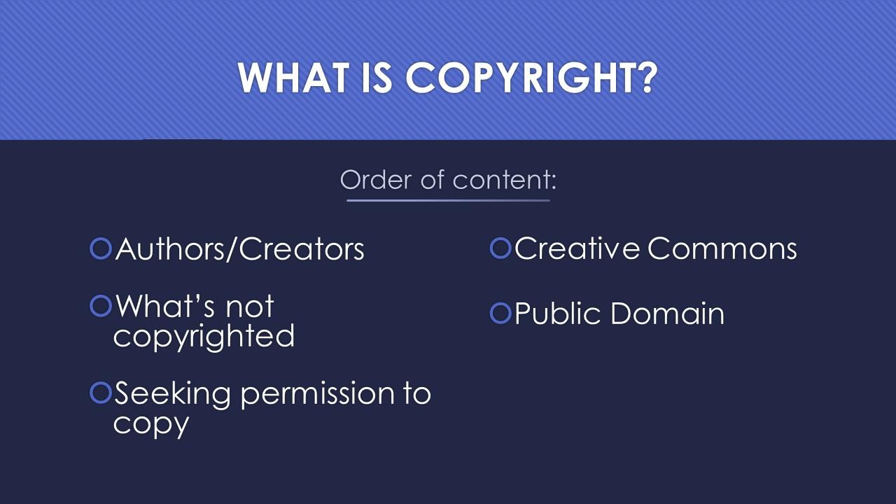 Slide 2: Order of content