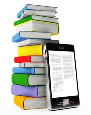 Books and smart phone
