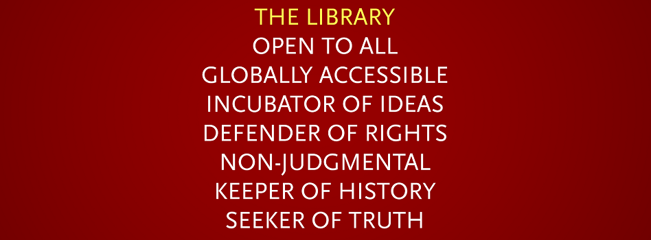 List of library principles to welcome patrons.