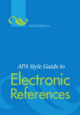 Book cover for the APA style guide to electronic references