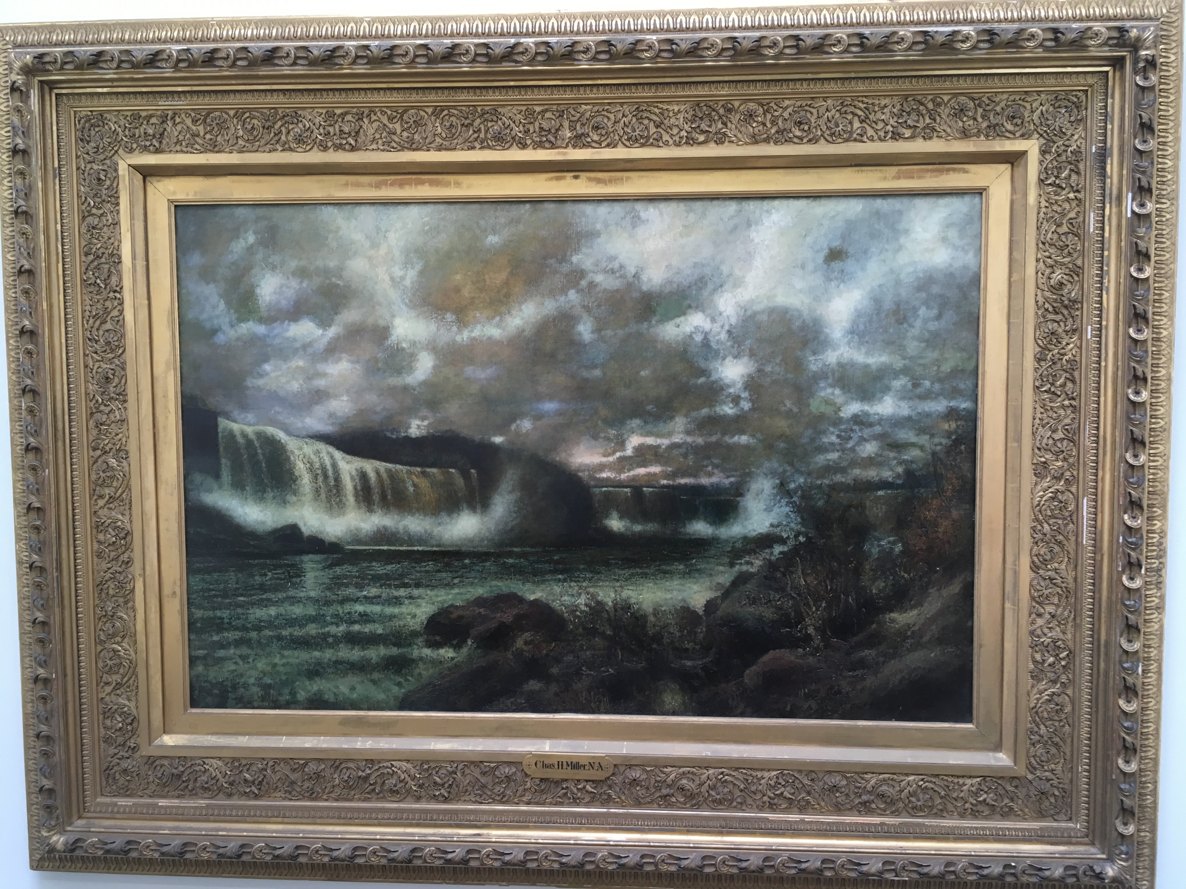Niagara Falls, painting by Charles Henry Miller, MD