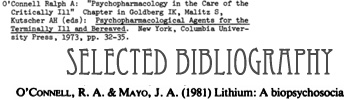 Link to the Selected Bibliography of Ralph A. O'Connell, MD