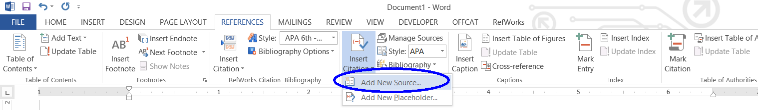Creating a Reference List and In-text Citations in Microsoft