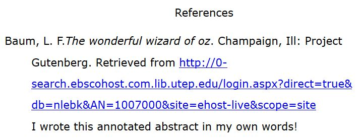 what is an annotated citation