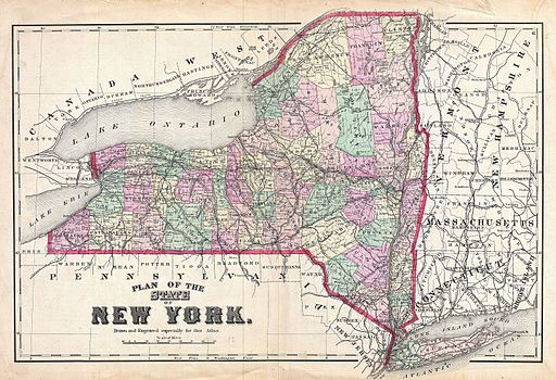 old map of New York state
