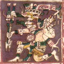 Image detail from a facsimile of the Dresden Codex