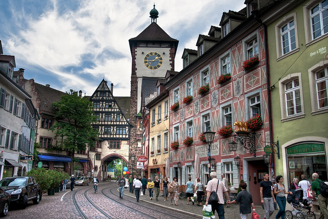 Photo of the city of Freiburg